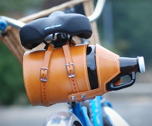 Leather Bike Growler Carrier