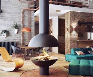 Loft-Inspired Interior by Uglyanitsa Alexander
