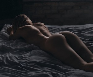 Mellanie Kristensen poses naked in an old factory