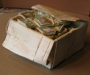 Box of Money made from Block of Wood