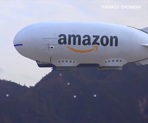 Amazon's floating logistics center