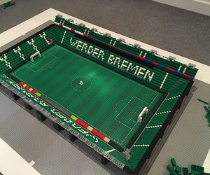 Lego make a Stadium of Werder Bremen