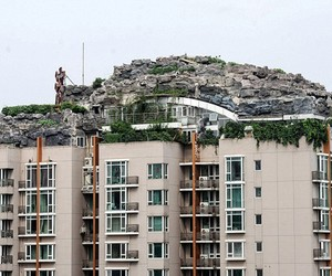 Man Builds Dream Home Above Aparment Building