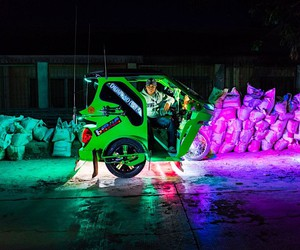 Oleg Tolstoy photographs brightly lit trikes