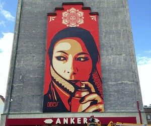 Streetart: New Mural by Shepard Fairey In Vienna