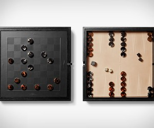 Shinola Backgammon & Checkers Set