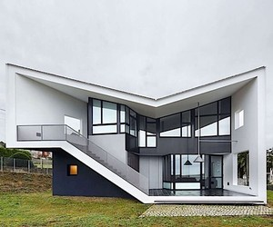 An asymmetrical building of Padilla Nicas Arquitec
