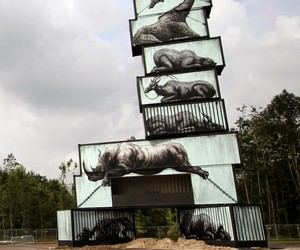 New Mural by ROA for North West Walls Festival in