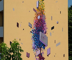 """The poplar"": wall paintings in Mantua by Etnik"