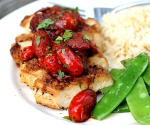 Chicken Breasts with Tomato-Herb Pan Sauce