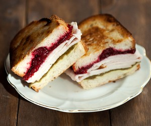 turkey cranberry green chile sandwich