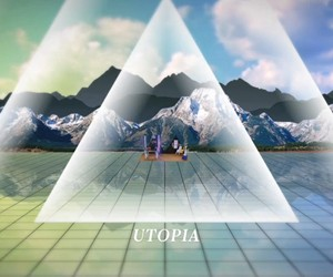 """Yacht """"Utopia / Dystopia"""" (The Earth Is On Fire)"""