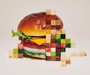 Yuni Yoshida breaks down food into its pixel